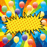 Balloons and rainbow. Vector poster for your text. Balloons and rainbow Royalty Free Stock Photo
