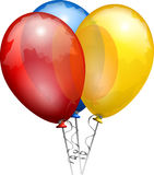 Balloons, Red, Blue, Yellow, Shiny Royalty Free Stock Photo