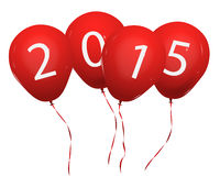 2015 balloons. 2015 red new year balloons Stock Photo