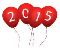 2015 balloons Stock Photo