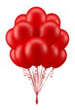 Balloons_red. Red party balloons for birthday Stock Photos
