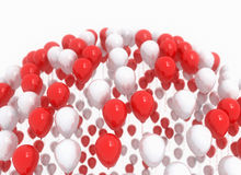 Balloons red party decoration Stock Photography