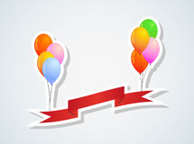 Balloons and ribbon Royalty Free Stock Photo