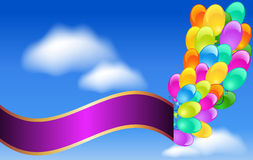 Balloons and  ribbon Royalty Free Stock Photos