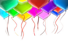 Balloons with ribbons Royalty Free Stock Photos
