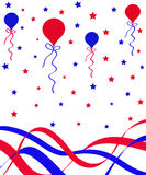 Balloons and ribbons Royalty Free Stock Images