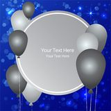 Balloons sale business template for web and print vector illustration