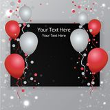 Balloons sale business template happy birthday royalty free illustration