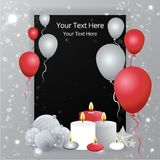 Balloons sale business template royalty free illustration