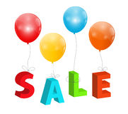 Balloons with Sale Letters . Concept of Discount. Stock Photography