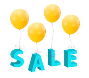 Balloons with Sale Letters . Concept of Discount. Royalty Free Stock Images