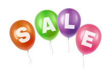 Balloons with sale. Vector illustration of festive balloons transparency with sale Stock Image