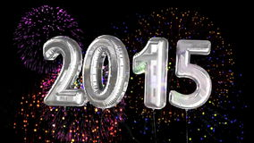 Balloons saying 2015 for the new year stock video footage