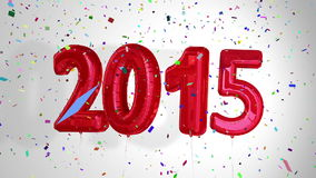 Balloons saying 2015 for the new year stock footage