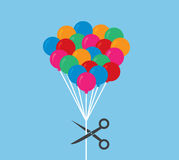 Balloons Scissor Cut Stock Images