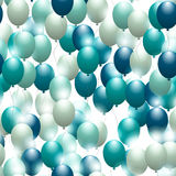 Balloons. Seamless festive pattern. Background for design. And decor Stock Photos