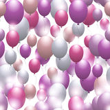 Balloons. Seamless festive pattern. Background for design. And decor Stock Photo