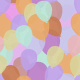 Balloons. Seamless pattern. Bright colored backgrounds. Royalty Free Stock Photo
