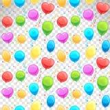 Balloons seamless pattern Stock Photography