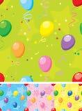 Balloons seamless pattern Stock Photo
