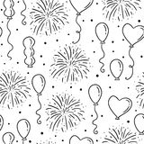 Balloons seamless vector pattern Royalty Free Stock Photography