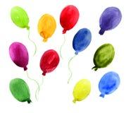 Balloons set Stock Photo
