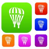 Balloons set collection. Balloons set icon in different colors isolated vector illustration. Premium collection Stock Photography