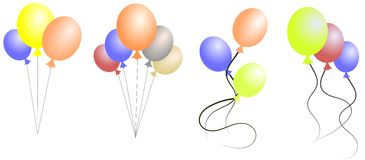 Balloons set Stock Image