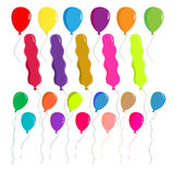 Balloons set vector on white background. Cute,eps10 Royalty Free Stock Images