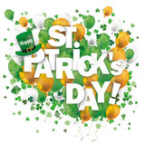 Balloons Shamrock Happy St Patrick Stock Photography