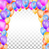 Balloons in the shape of arch. Royalty Free Stock Photo