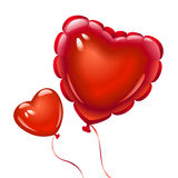 Balloons in the shape of heart. Vector balloons in the shape of heart Royalty Free Stock Image
