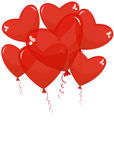 Balloons in the shape of a heart Stock Photos