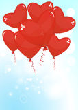 Balloons in the shape of a heart Royalty Free Stock Images