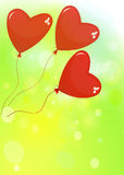 Balloons in the shape of a heart Royalty Free Stock Photo