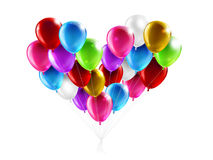 Balloons in the shape of a heart Stock Images