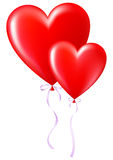 Balloons in the shape of a heart Royalty Free Stock Photos