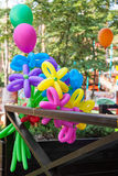 Balloons shaped in form flower Stock Images