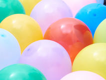 Balloons showing splendid colors closeup. Royalty Free Stock Photos