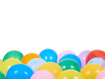 Balloons showing splendid colors closeup. Royalty Free Stock Image