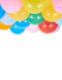 Balloons showing splendid colors closeup. Royalty Free Stock Images