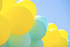 Balloons in skies Royalty Free Stock Photos