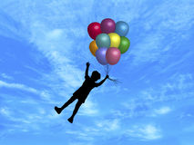 Balloons in Sky 1 Royalty Free Stock Image