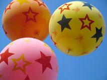 Balloons in the sky. Balloons Royalty Free Stock Photo