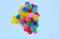 Balloons in the sky. Balloons in the blue sky Stock Photography
