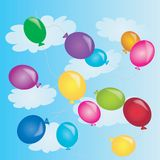 Balloons in sky Stock Photos