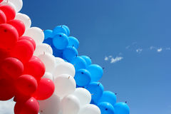 Balloons in the sky Royalty Free Stock Photos