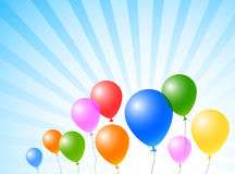 Balloons in the sky. Color balloons in the blue sky Royalty Free Stock Image