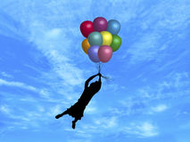 Balloons in Sky 2 Royalty Free Stock Images