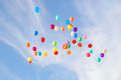 Balloons on  sky Royalty Free Stock Photography